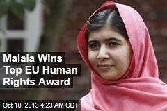 Malala Wins Top EU Human Rights Award