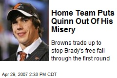 Home Team Puts Quinn Out Of His Misery