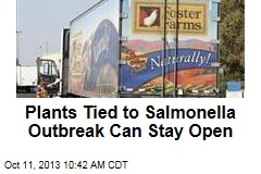 Plants Tied to Salmonella Outbreak Can Stay Open
