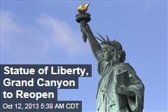 Statue of Liberty, Grand Canyon to Reopen