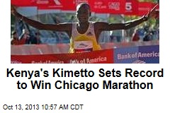 Kenya's Kimetto Sets Record to Win Chicago Marathon