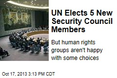 UN Elects 5 New Security Council Members