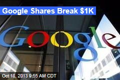Google Shares Break $1K