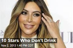 10 Stars Who Don't Drink