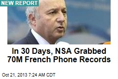 In 30 Days, NSA Grabbed 70M French Phone Records