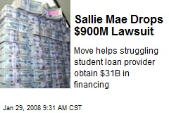 Sallie Mae Drops $900M Lawsuit