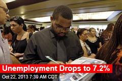 Unemployment Drops to 7.2%