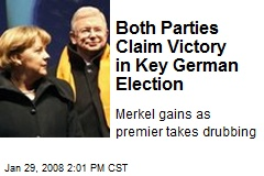 Both Parties Claim Victory in Key German Election