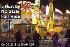 5 Hurt on NC State Fair Ride