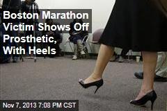 Boston Marathon Victim Shows Off Prosthetic, With Heels