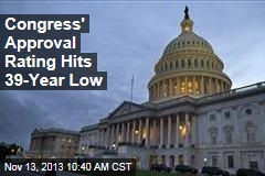 Congress' Approval Rating Hits 39-Year Low