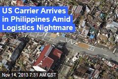 US Carrier Arrives for Typhoon Aid Effort