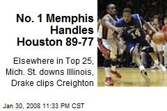 No. 1 Memphis Handles Houston 89-77