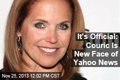 It's Official: Couric Is New Face of Yahoo News