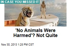 'No Animals Were Harmed'? Not Quite