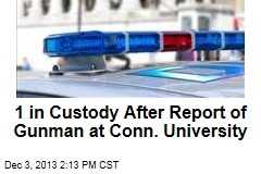 1 in Custody After Report of Gunman at Conn. University