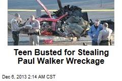 Teen Busted for Stealing Paul Walker Wreckage