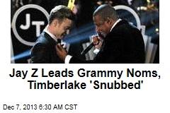 Jay Z Leads Grammy Noms, Timberlake 'Snubbed'