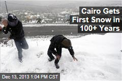 Cairo Gets First Snow in 100+ Years