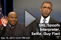 SNL Spoofs Interpreter, Selfie, Guy Fieri