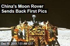 China's Moon Rover Sends Back First Pics