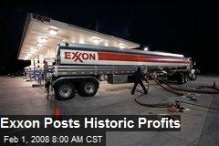 Exxon Posts Historic Profits