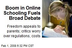Boom in Online Schooling Fuels Broad Debate