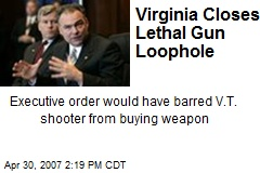 Virginia Closes Lethal Gun Loophole