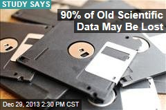 90% of Old Scientific Data May Be Lost