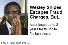 Wesley Snipes Escapes Fraud Charges, But...