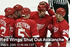 Red Wings Shut Out Avalanche