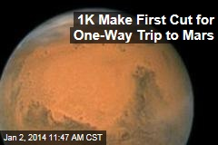1K Make First Cut for One-Way Trip to Mars