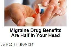 Migraine Drug Benefits Are Half in Your Head