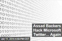 Assad Backers Hack Microsoft Twitter... Again