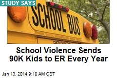 School Violence Sends 90K Kids to ER Every Year