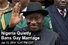 Nigeria Quietly Bans Gay Marriage