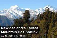 New Zealand's Tallest Mountain Has Shrunk