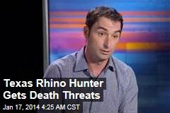 Texas Rhino Hunter Gets Death Threats