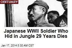Last Japanese WWII Soldier to Surrender Dies