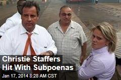 Christie Staffers Hit With Subpoenas