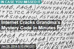 Internet Cracks Grandma's Mystery Code in Minutes