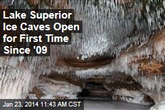 Lake Superior Ice Caves Open for First Time Since 2009