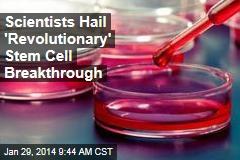 Scientists Hail 'Revolutionary' Stem Cell Breakthrough