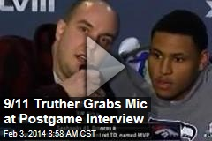 9/11 Truther Grabs Mic at Postgame Interview