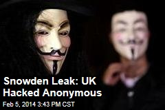 Snowden Leak: The UK Hacked Anonymous