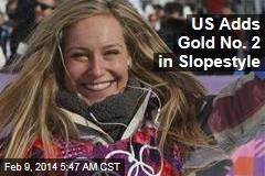 US Adds Gold No. 2 in Slopestyle
