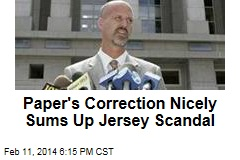 Paper's Correction Nicely Sums Up Jersey Scandal