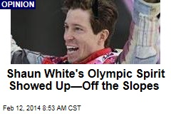 Shaun White's Olympic Spirit Showed Up—Off the Slopes