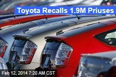 Toyota Recalls 1.9M Priuses