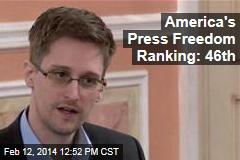 America's Press Freedom Ranking: 46th